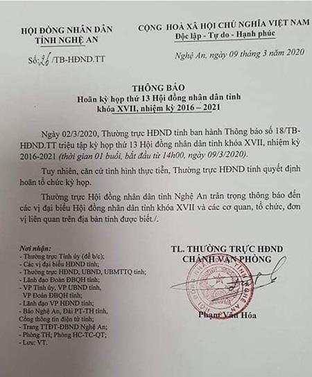 Cách li tại nhà lãnh đạo tỉnh Nghệ An tiếp xúc với đoàn Bộ KH-ĐT - Ảnh 2.