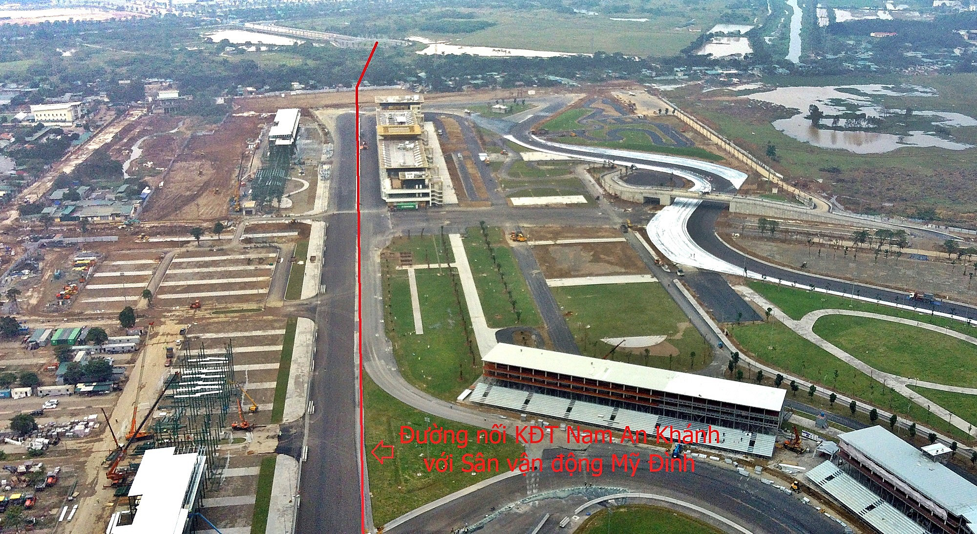 Đường sẽ mở theo qui hoạch ở Hà Nội: Toàn cảnh đường nối KĐT Nam An Khánh đến Sân vận động Mỹ Đình - Ảnh 2.