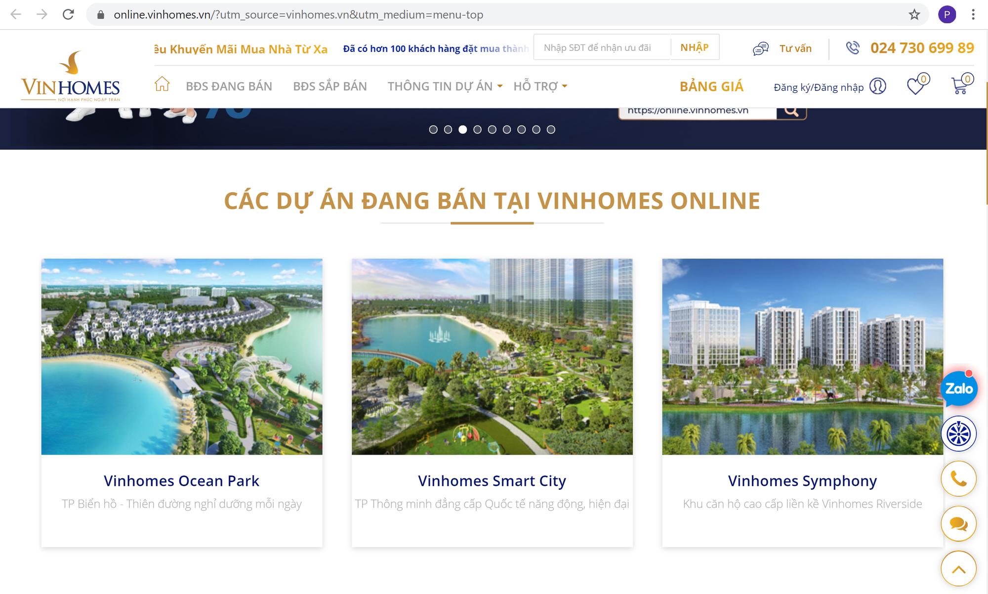 Vinhomes ra mắt sàn giao dịch bất động sản Vinhomes Online - Ảnh 1.