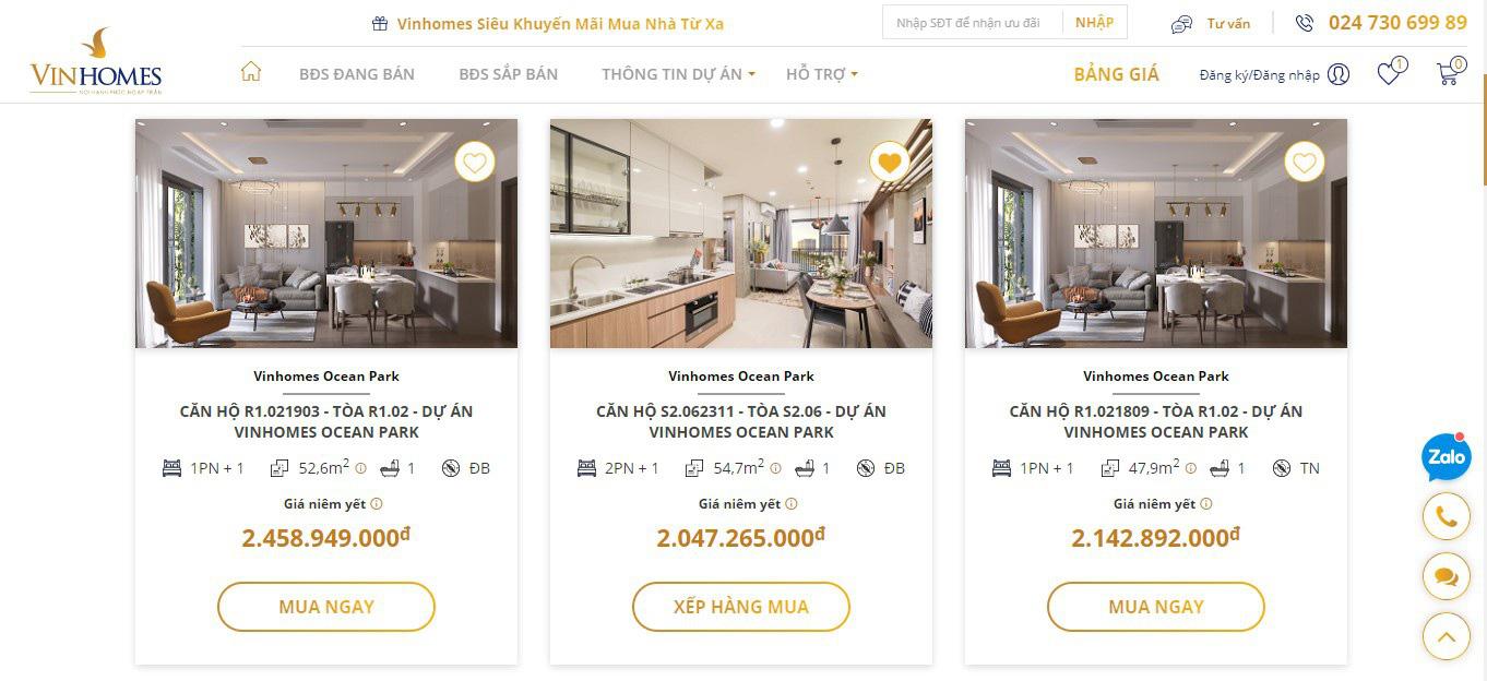 Vinhomes ra mắt sàn giao dịch bất động sản Vinhomes Online - Ảnh 2.