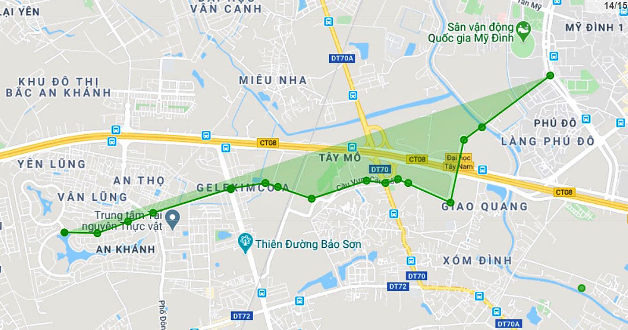 Đường sẽ mở theo qui hoạch ở Hà Nội: Toàn cảnh đường nối KĐT Nam An Khánh đến Sân vận động Mỹ Đình - Ảnh 1.