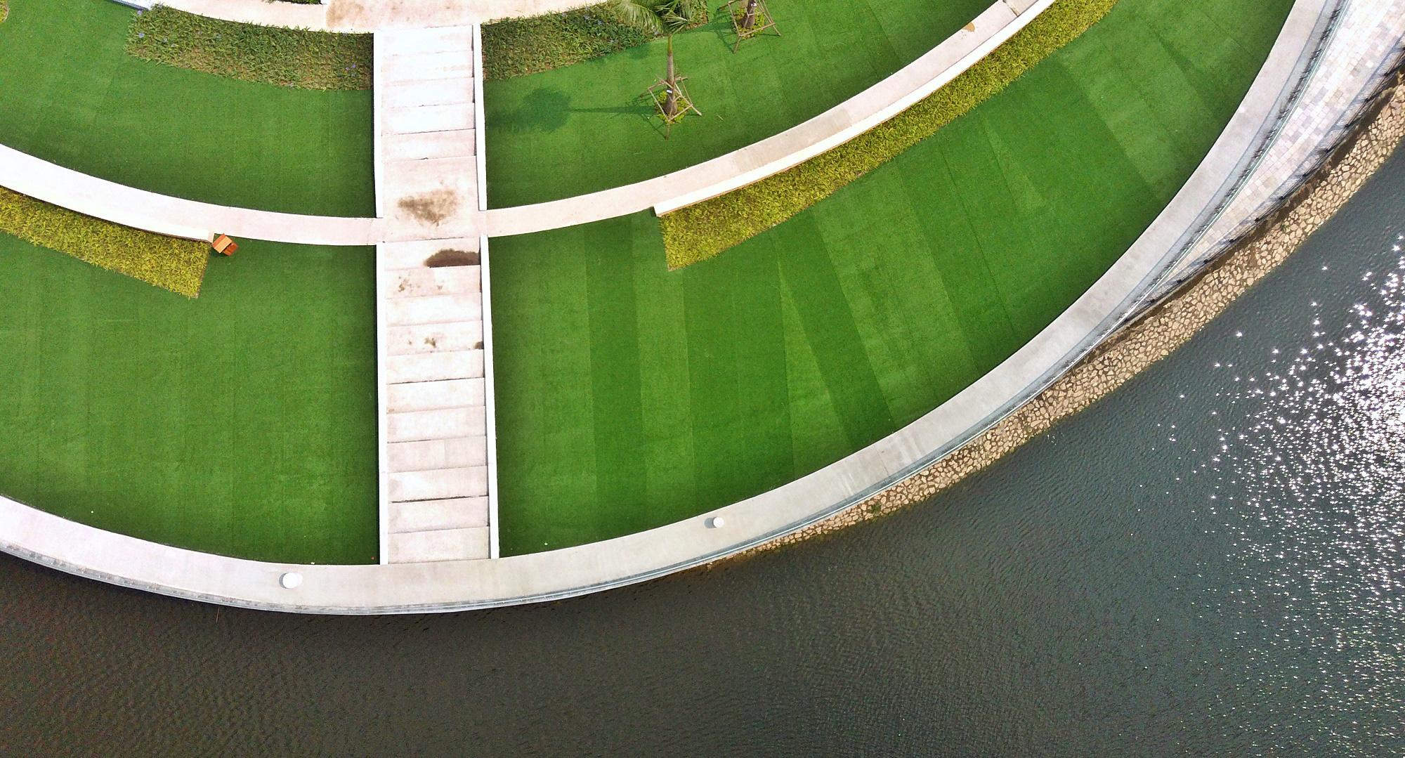 Công viên Thiên văn học đầu tiên Đông Nam Á ở KĐT Dương Nội đẹp lung linh nhìn từ trên cao - Ảnh 7.