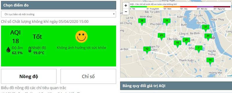 Chất lượng không khí Hà Nội lên mức tốt sau 5 ngày cách li xã hội - Ảnh 1.