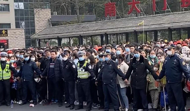 Vừa nới phong toả, hàng vạn người Trung Quốc kéo nhau tới du lịch núi Hoàng Sơn bất chấp dịch Covid-19 - Ảnh 2.