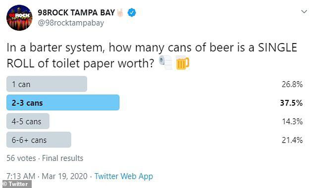 Tại Mỹ, 2 lon bia đổi 1 cuộn giấy vệ sinh, giăm bông đổi lấy khăn giấy - Ảnh 3.