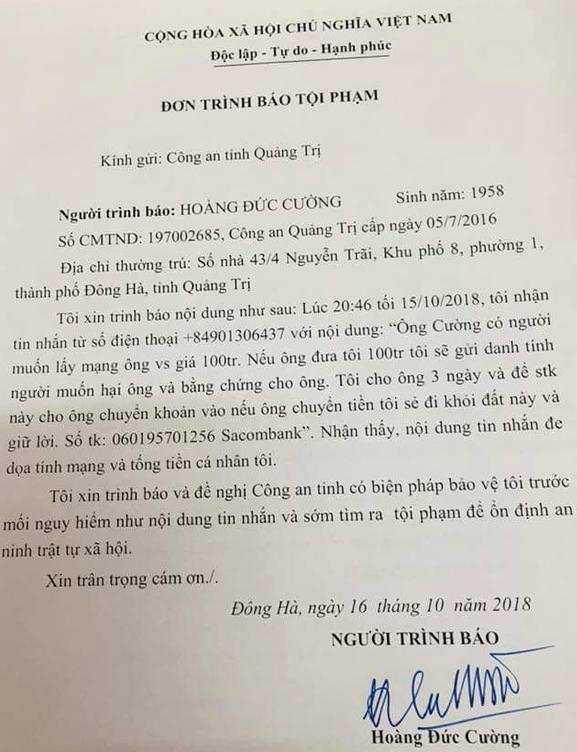 chanh van phong doan dai bieu quoc hoi bi de doa tinh mang tong tien