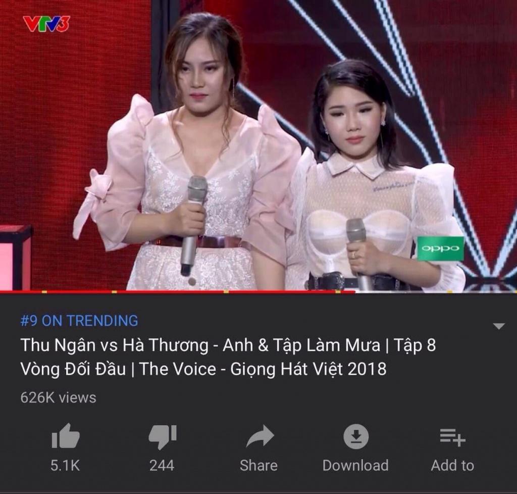 the voice 3 ban mashup cua team hlv thu phuong lot trending tren youtube