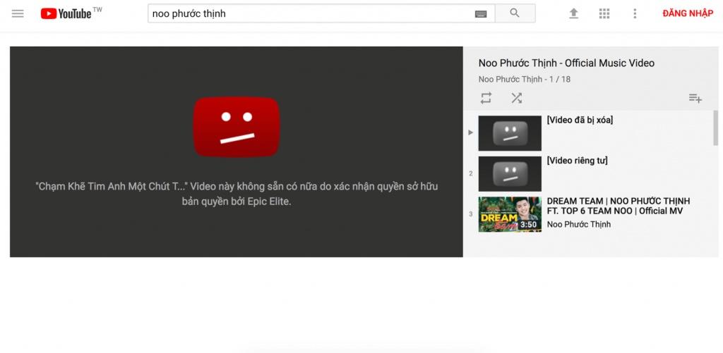 fan lo lang khi loat mv dinh dam bi go khoi youtube