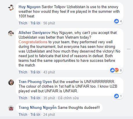 nguoi viet tan cong trang facebook cua cau thu uzbekistan