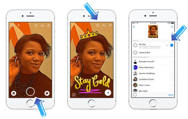 facebook messenger cong bo tinh nang messenger day lai mot lan nua copy trang tron snapchat