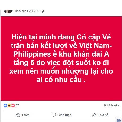 hang tram cu dan mang bong ban dot xuat dung ngay dt viet nam da ban ket luot ve aff cup 2018