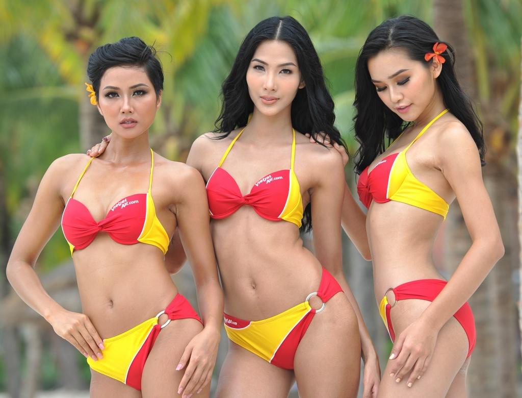 nguoi dep bikini vietjet lai dang quang hoa hau hoan vu viet nam