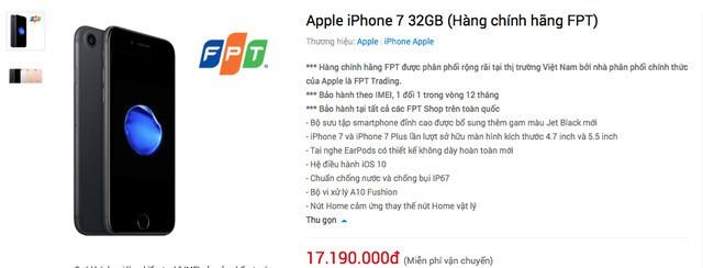 loan khai niem iphone chinh hang o viet nam