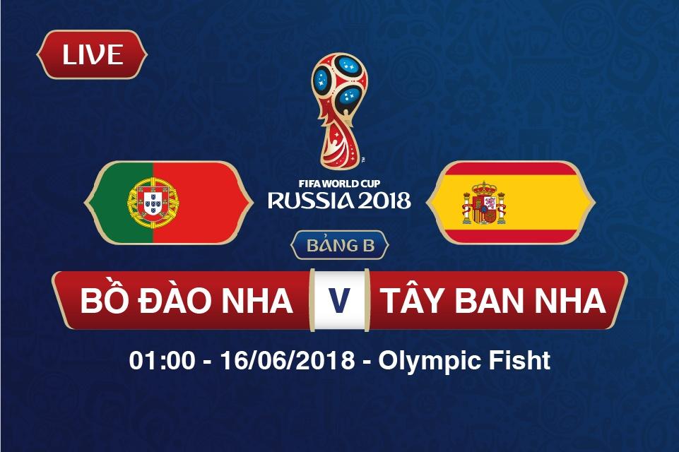 truc tiep bo dao nha vs tay ban nha bang b world cup 2018 cr7 ganh ca nuoc tren vai