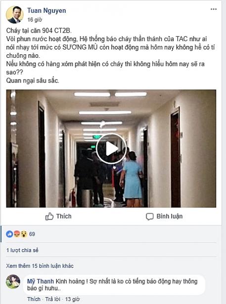 chay o chung cu trang an complex coi bao chay khong keu nguoi dan biet thong tin chay qua facebook