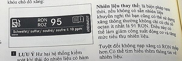 khong con xang ron 95 nhieu mau xe sang o viet nam se nam phu bui