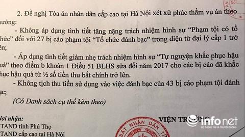 tand tinh phu tho chinh thuc len tieng ve thong tin khang nghi cua vien kiem sat