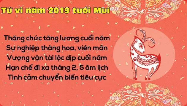 tu vi nam 2019 tuoi mui su nghiep thang hoa tinh cam tut doc