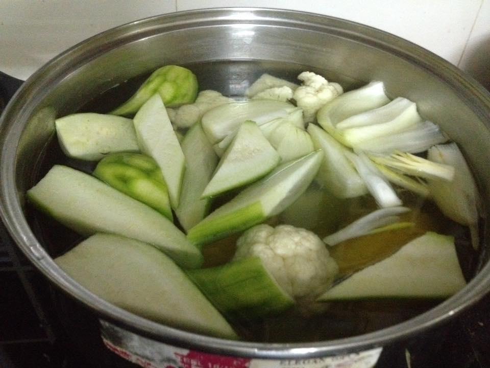 cách nấu nước dashi rau củ