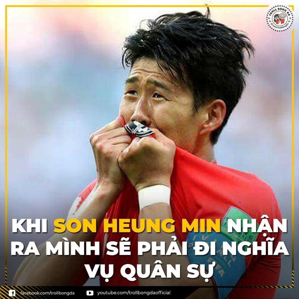 Đông đảo người hâm mộ hi vọng rằng ngôi sao của Olympic Hàn Quốc Son Heung Min sẽ bại trận trước Olympic Việt Nam trong trận bán kết sắp tới. (Ảnh: Troll ...