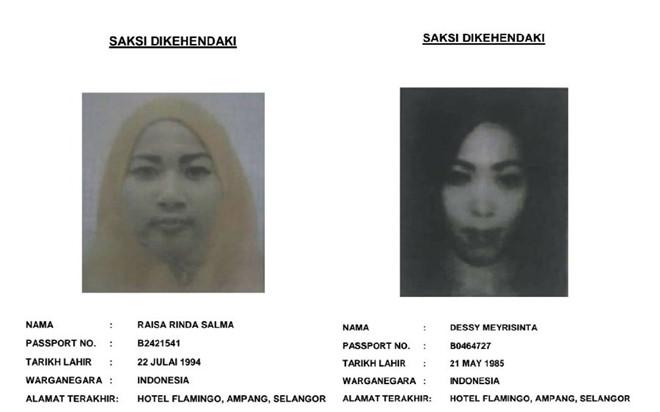 truy tim 2 phu nu indonesia lam nhan chung nghi an kim jong nam