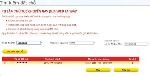 huong dan check in online vietjet air