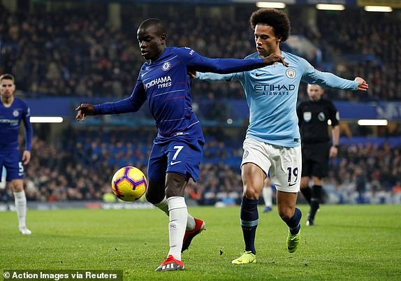 truc tiep chelsea vs manchester city hiep 1 leroy sane nem co hoi ra cua so