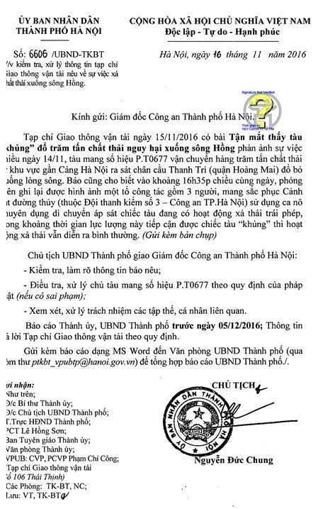 chu tich chung chi dao dieu tra tau xa hang tram tan chat thai xuong song hong