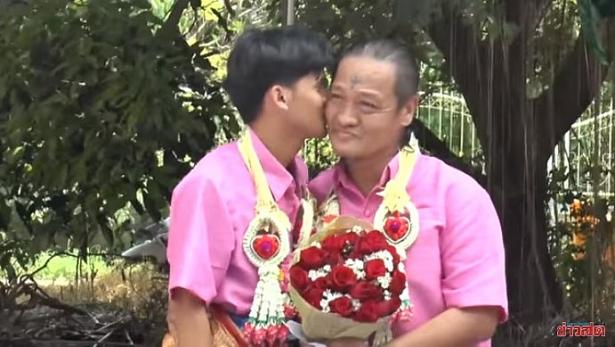 them dam cuoi gay xon xao phi cong tre 21 tuoi lay trai gia 52 sau 4 nam hen ho